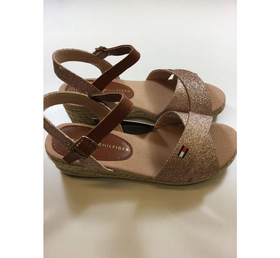 Rope wedge sandal