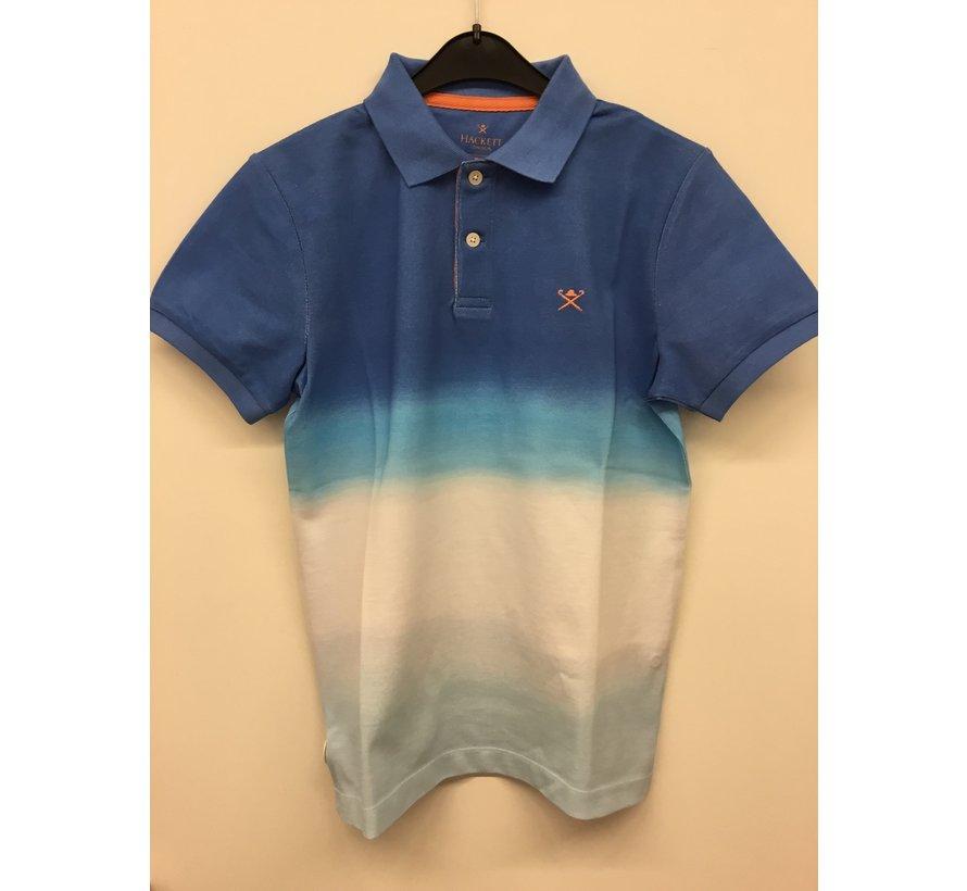 HK561430 blue gradation polo