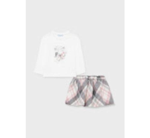 Mayoral 2930 Plaid skirt set