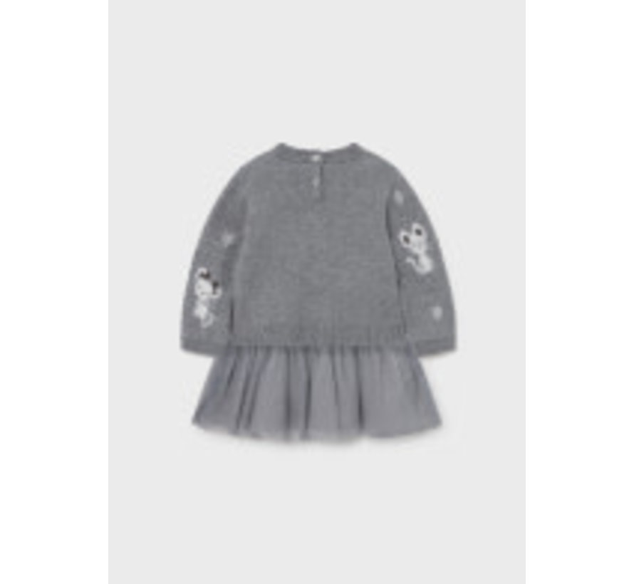 2923 Tricot/tulle dress