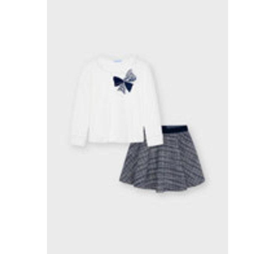 4941 Tweed skirt set