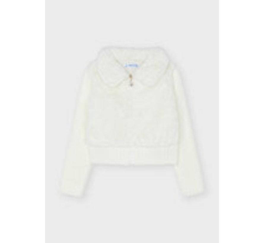 4381 Furry knit sweater