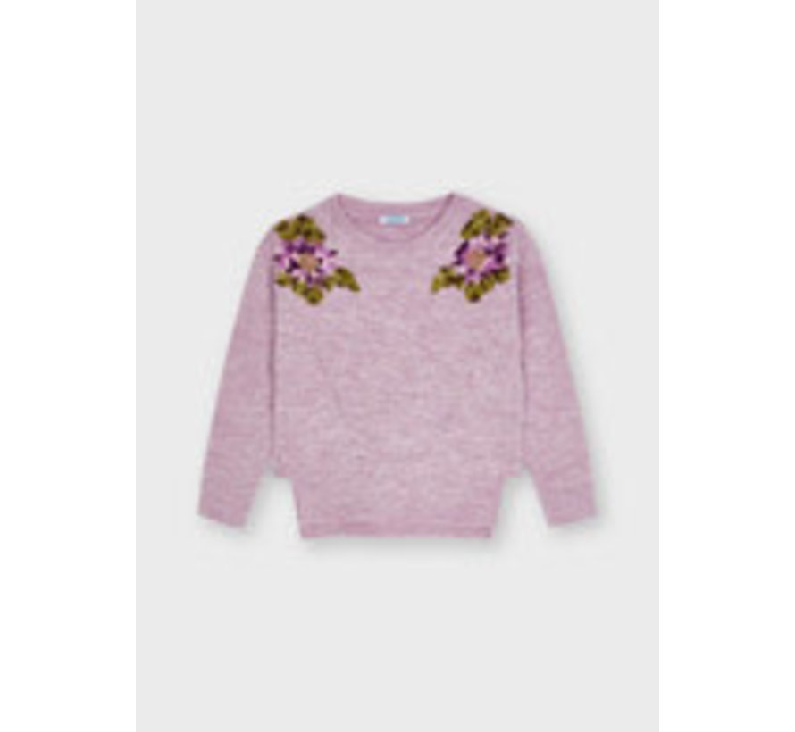 4371 Floral sweater