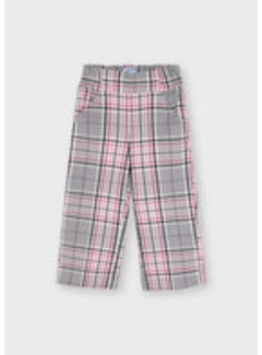 Mayoral 4575 Plaid cropped trousers