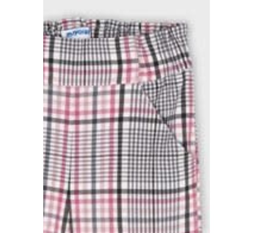 4575 Plaid cropped trousers