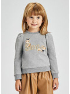 """Mayoral 4429 Sequin """"ciao"""" pullover"""