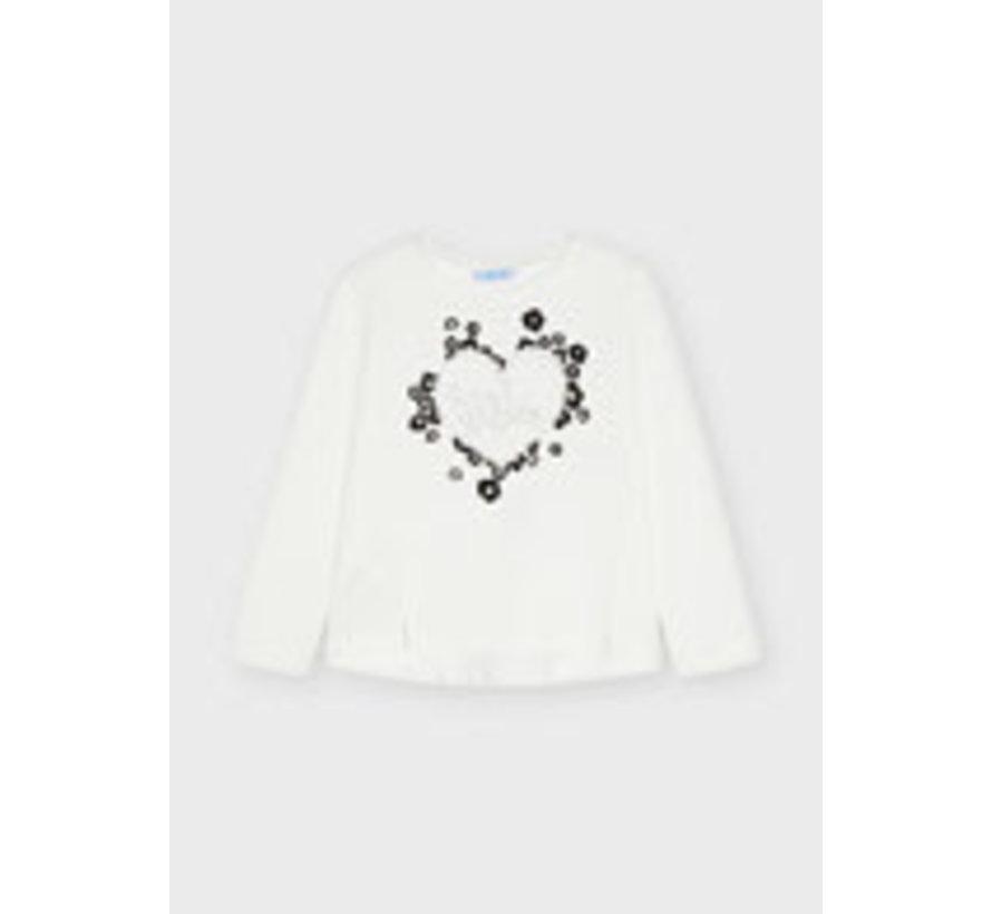 4012 Hearts l/s flock t-shirt