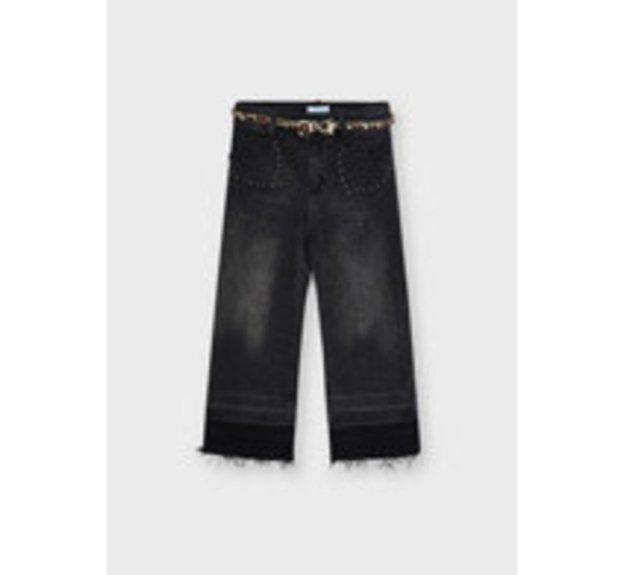 4579 Denim trousers w/belt