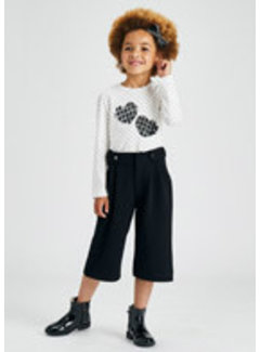 Mayoral 4576 Crepe knit culotte trousers