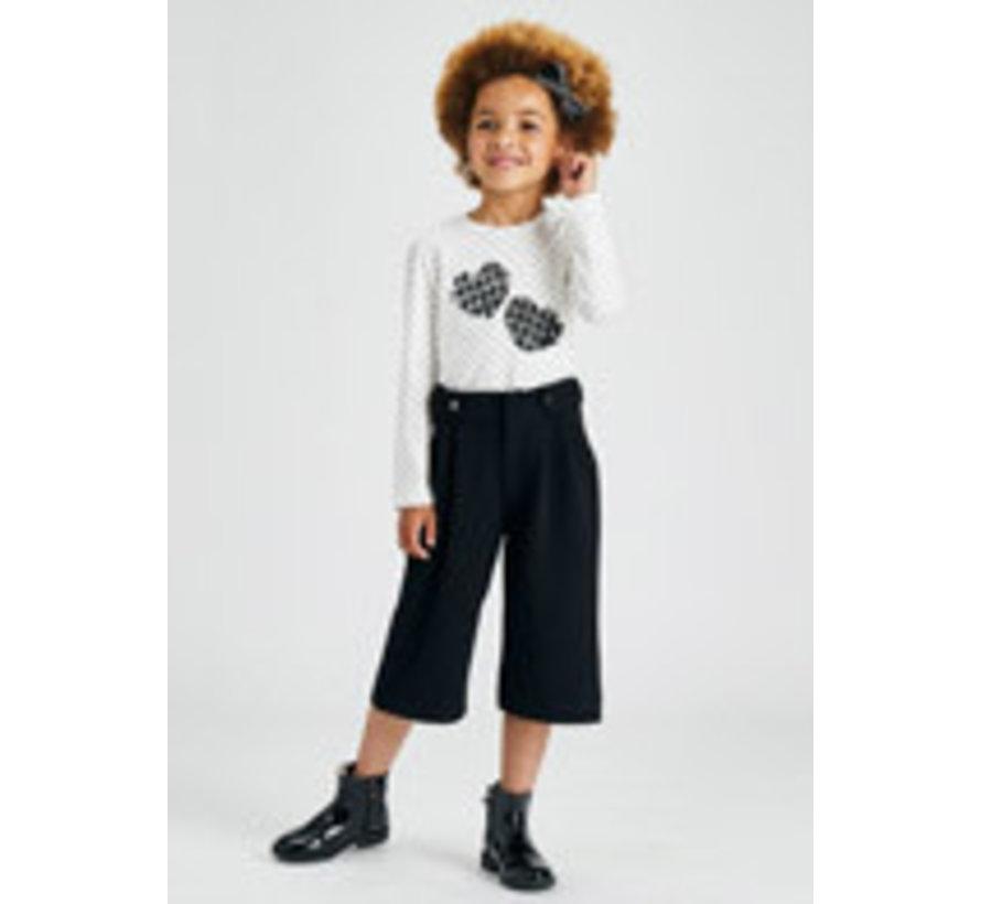 4576 Crepe knit culotte trousers