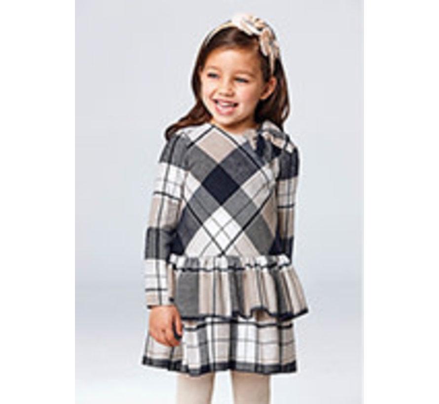 4913 Plaid combined dress