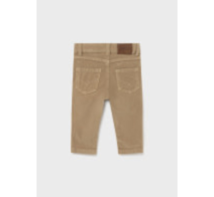 502 Basic slim fit cord trousers