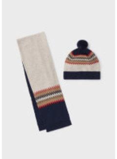 Mayoral 10103 Jacquard scarf-hat set
