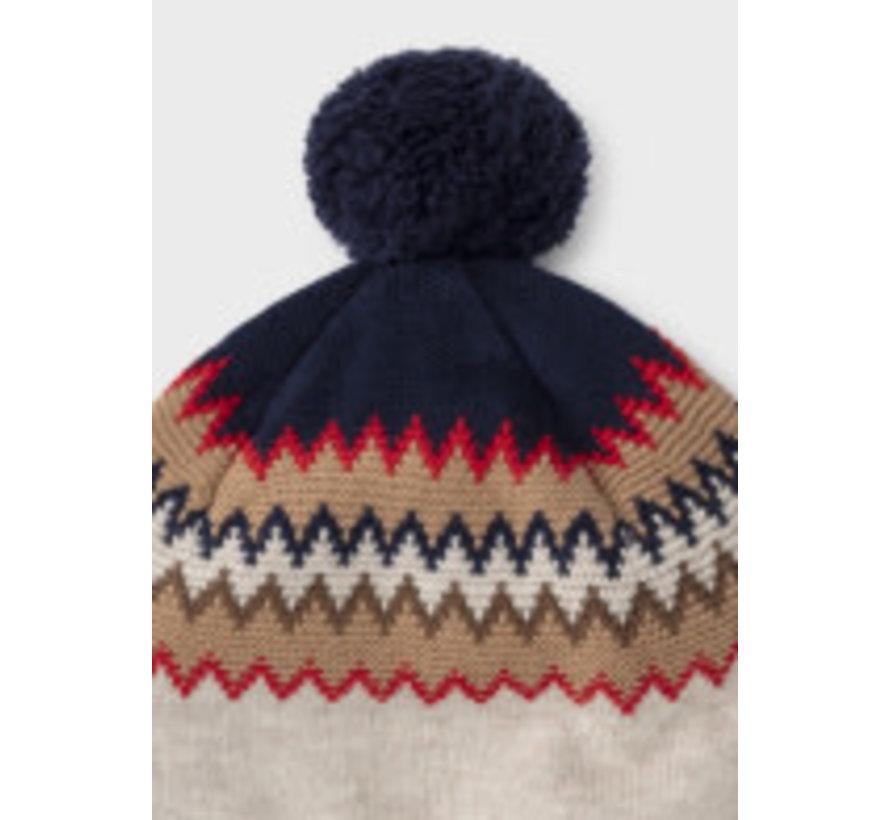 10103 Jacquard scarf-hat set