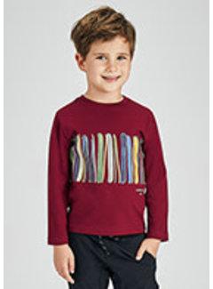Mayoral 4079 L/s print strip shirt