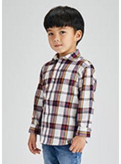 Mayoral 4169 L/s large plaid shirt