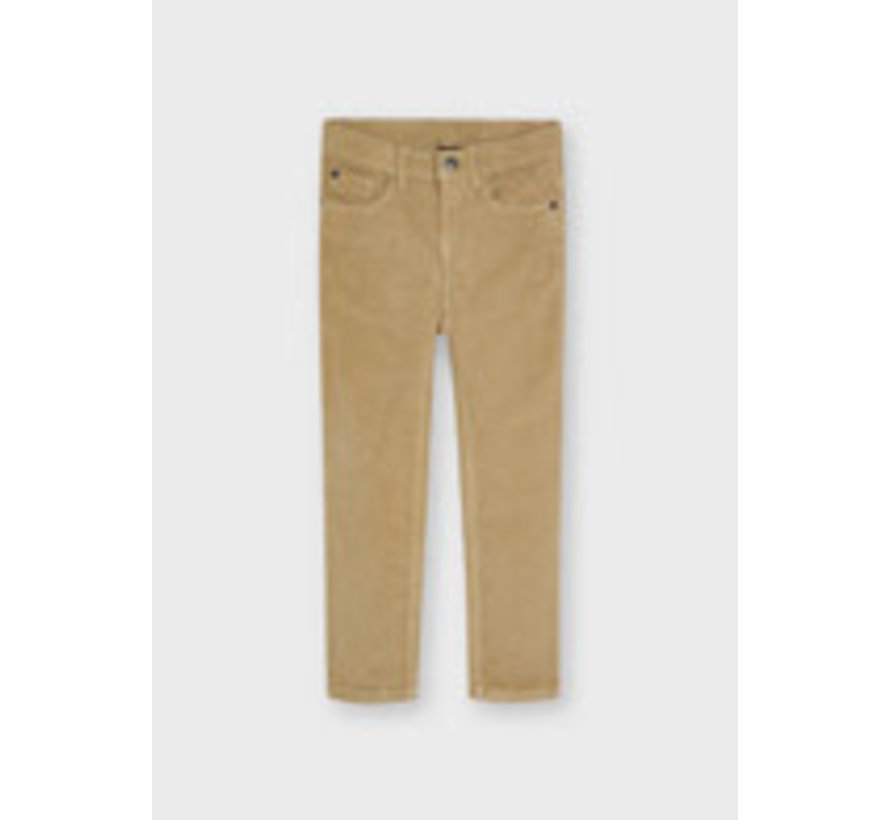 537 Basic slim fit cord trousers