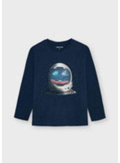 Mayoral 4089 L/s sequins t-shirt