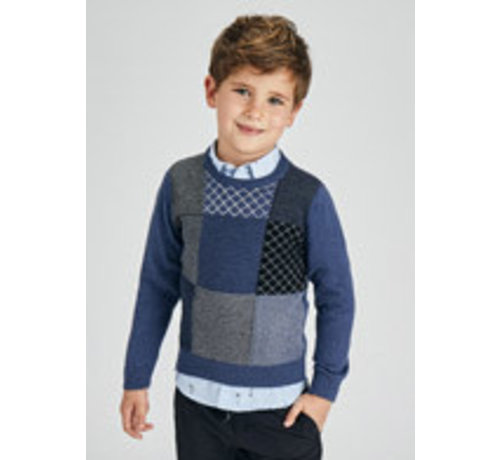 Mayoral 4362 Patchwork sweater