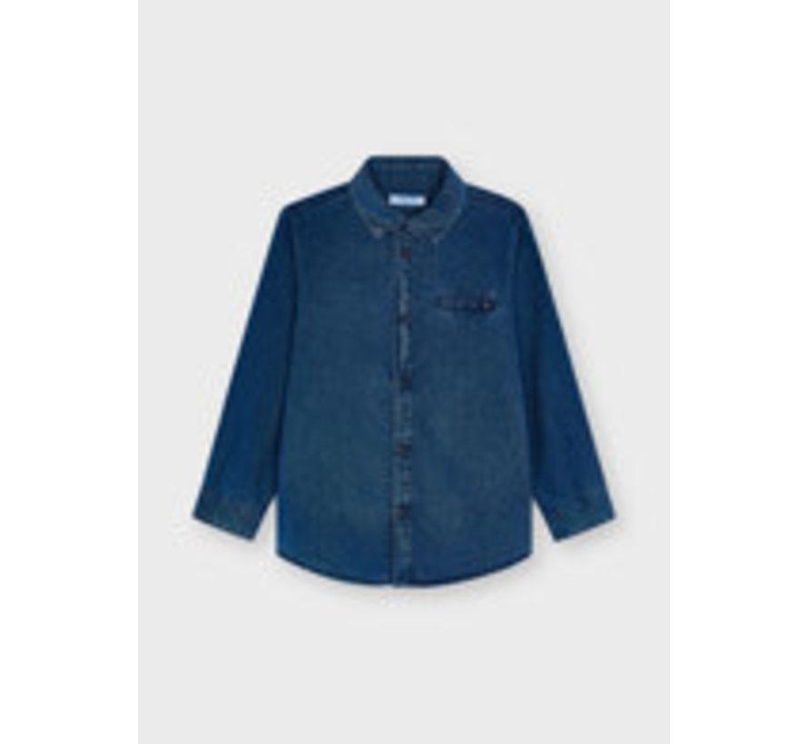 4166 L/s denim shirt