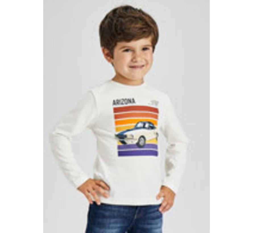 4081 L/s silkscreen car shirt