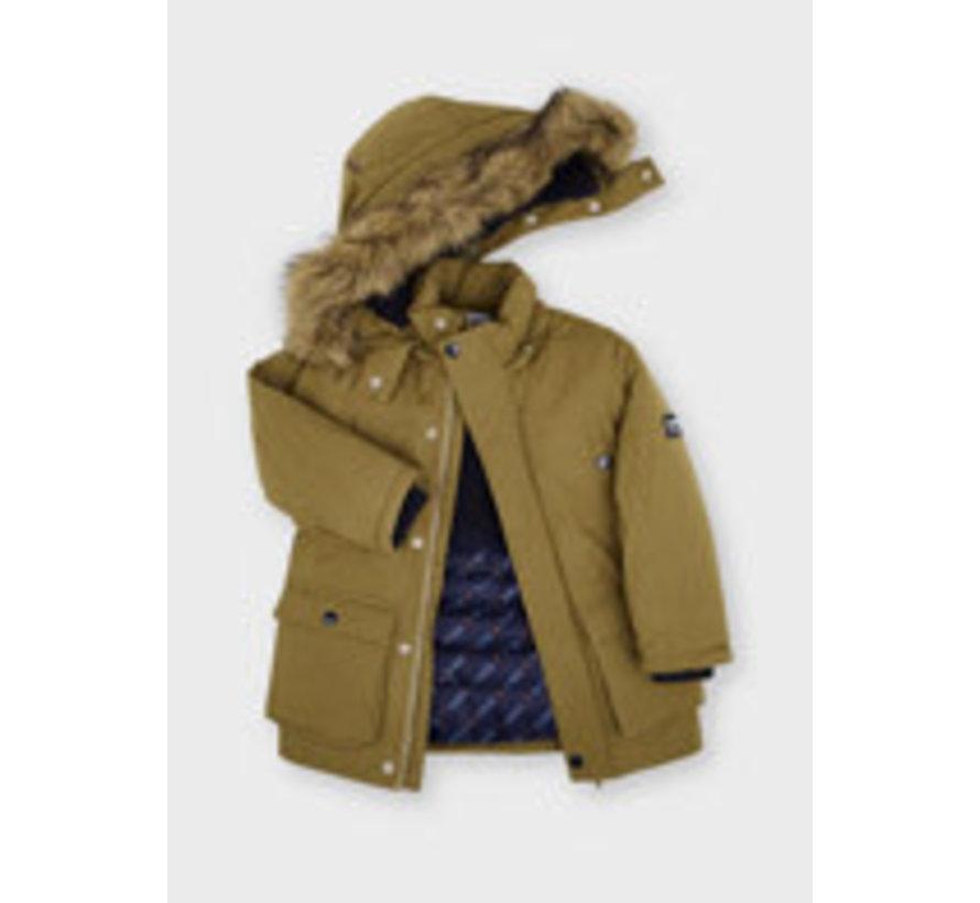 4416 Faux fur hooded parka
