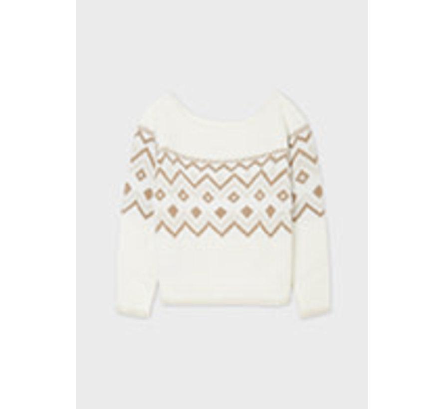 7351 Jacquard sweater