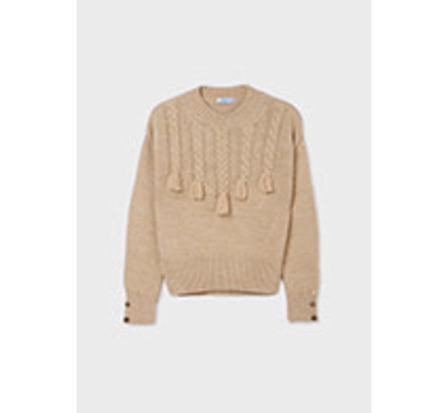 7348 Braided sweater