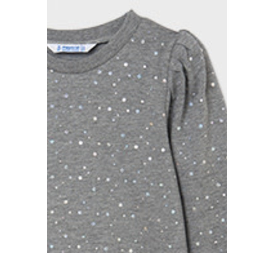 7427 Polka dot fleece pullover