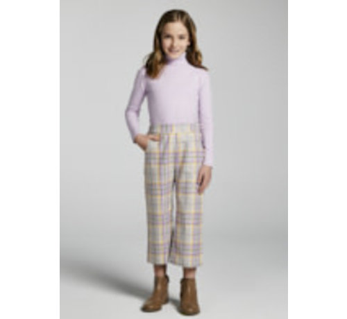 Mayoral 7564 Plaid cropped trousers