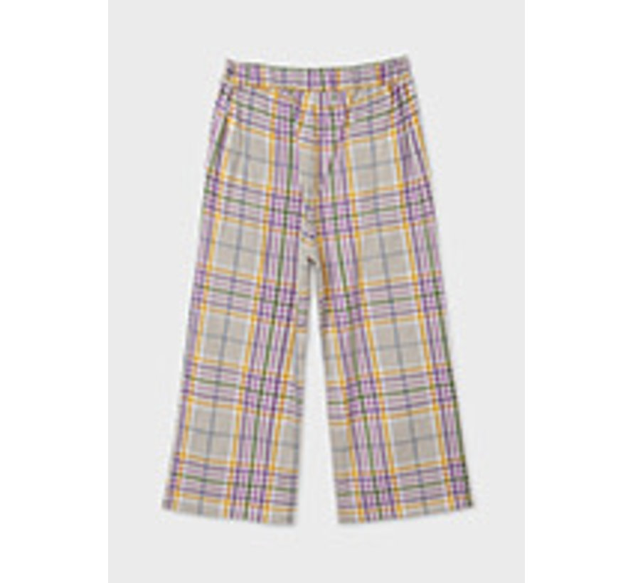 7564 Plaid cropped trousers