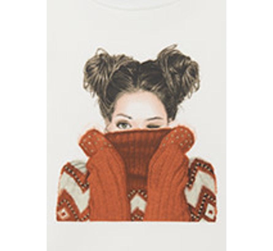 7085 L/s printed t-shirt
