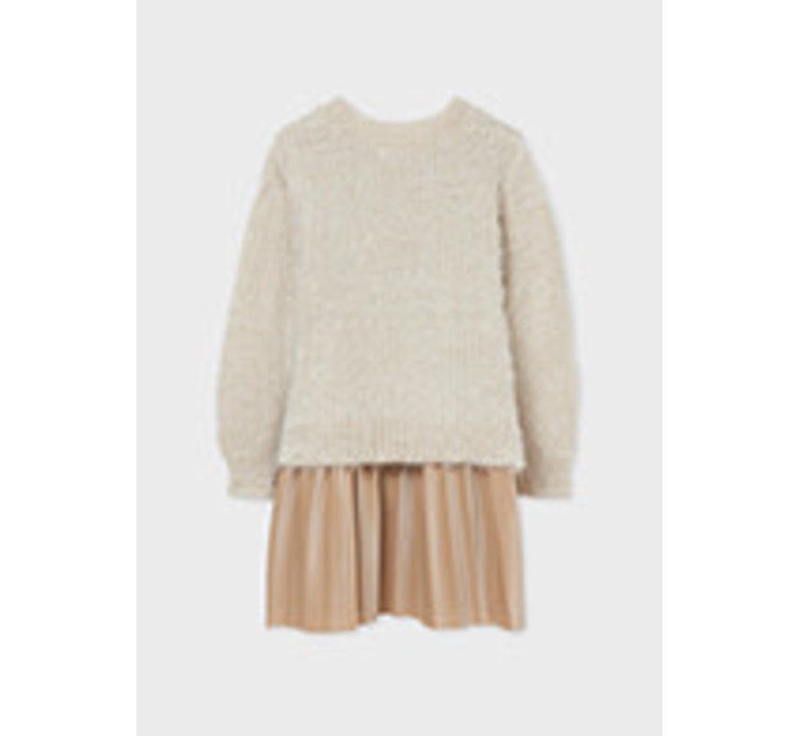 7912 Combined knit dress