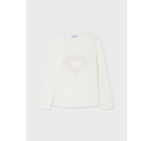 Mayoral 7097 L/s heart t-shirt