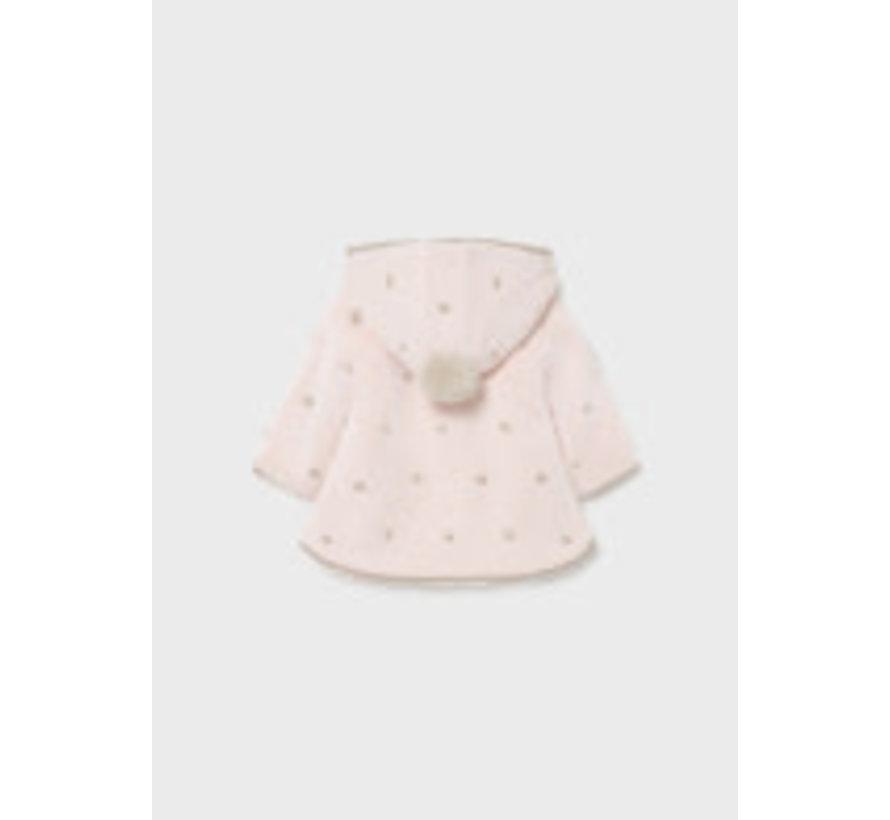 2364 Pompon knit cardigan