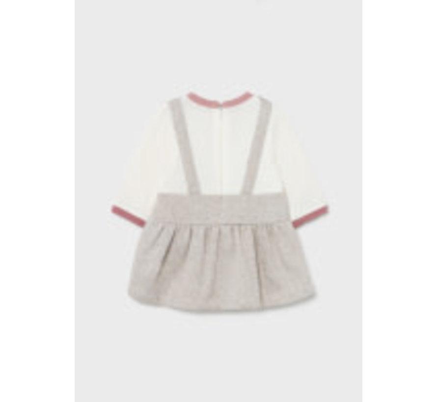 2893 Skirt onesie with hat