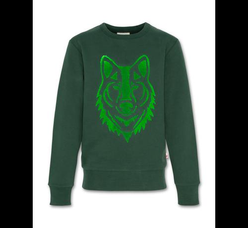 Ao76 221-2200-09 sweater c-neck wolf