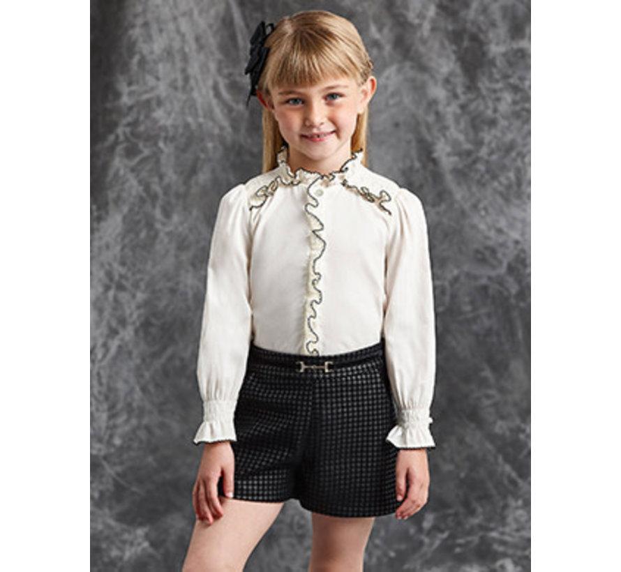 5623 Satin poplin blouse