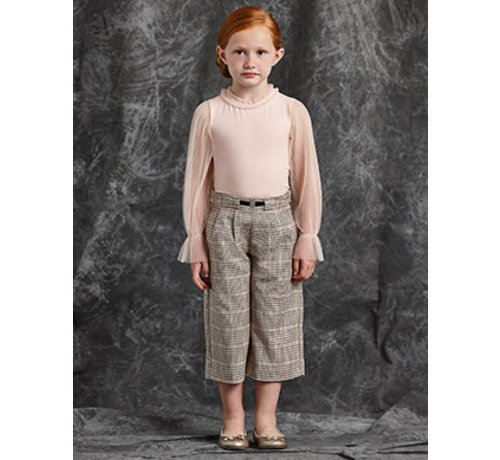 Abel & Lula 5721 Plaid culotte trouser