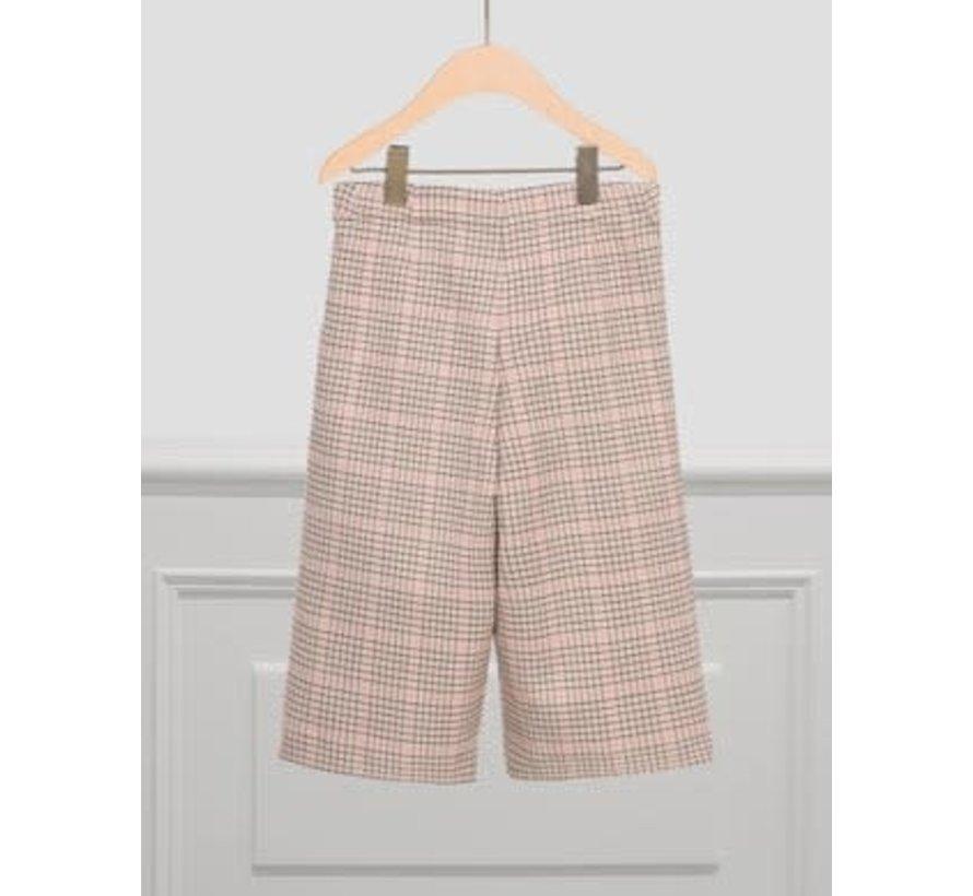 5721 Plaid culotte trouser