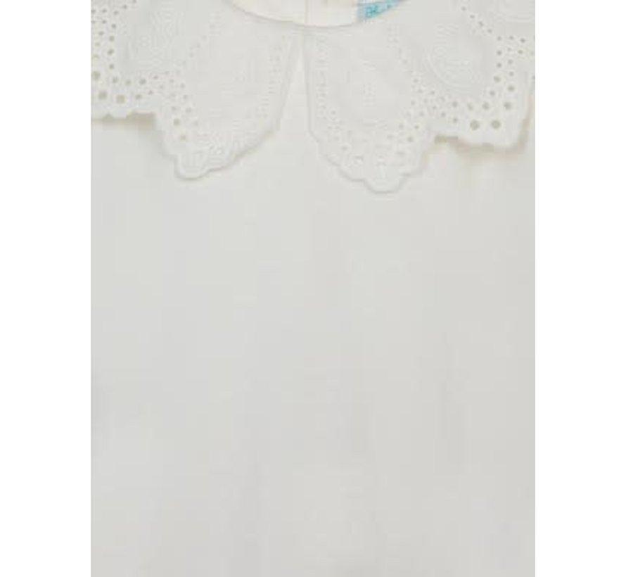 5612 Embroidered collar shirt