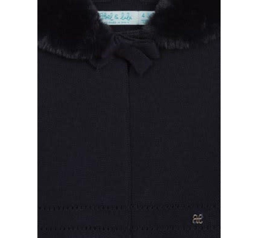 5840 Faux fur collar cardigan
