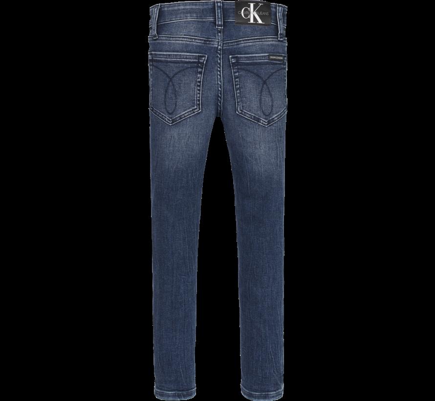 IB00925 skinny washed dark jeans