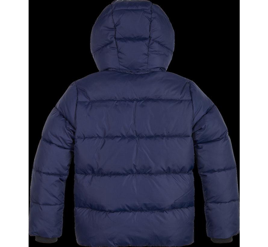 IB00937 tape puffer jacket