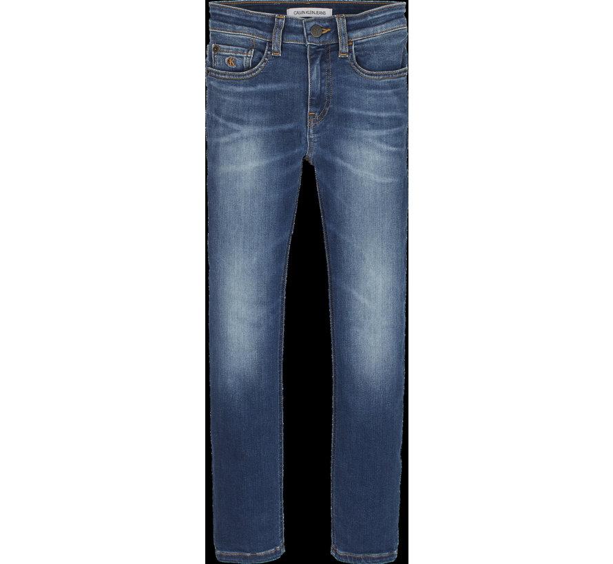 IB01040 slim green blue jeans