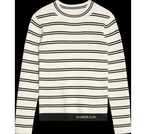 Calvin Klein pré IG00944 rib strip sweater