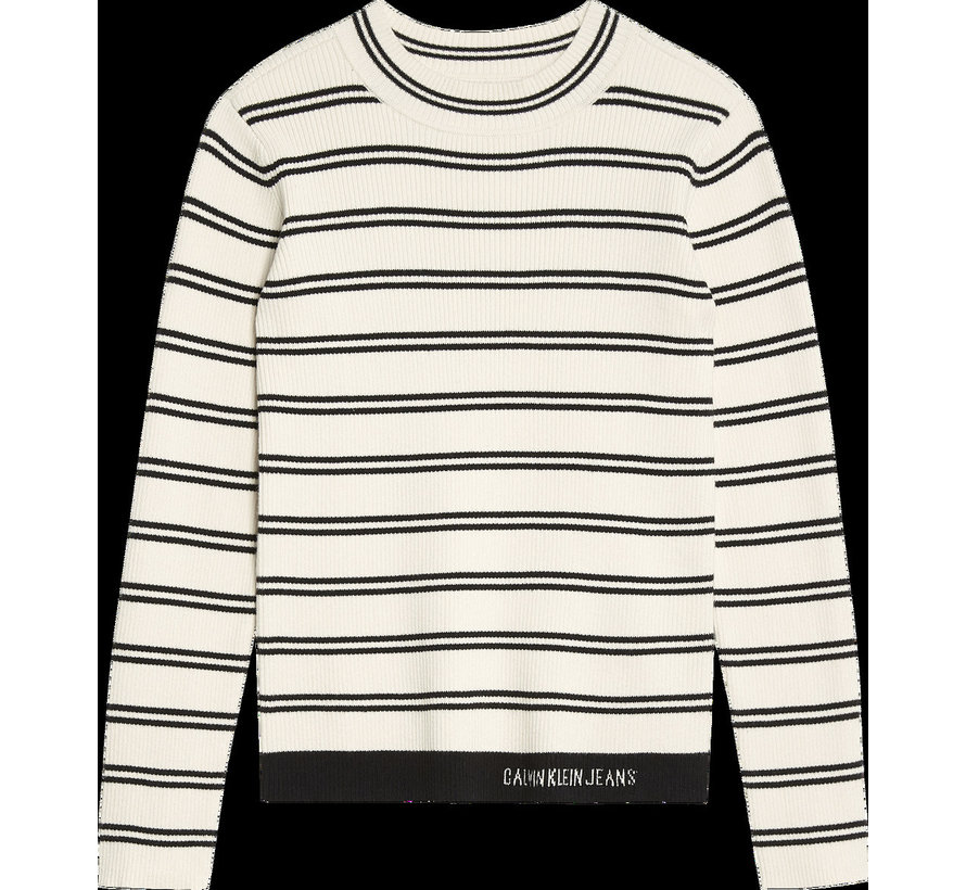 IG00944 rib strip sweater