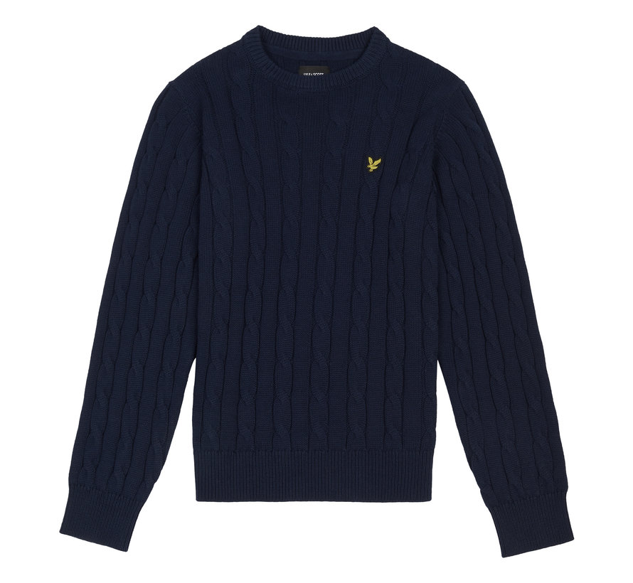 LSC1125 cable crew knit jumper