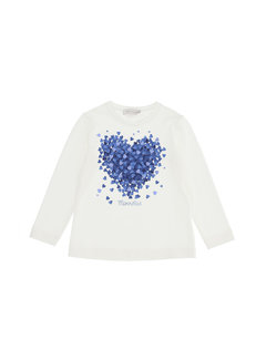 Monnalisa 118631PG-8201 T-shirt cuore