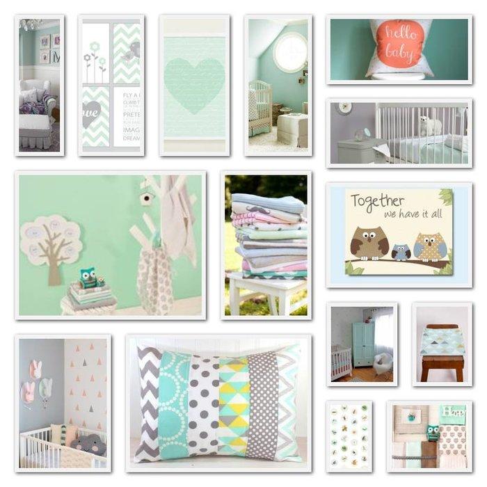 Mintgroen de trend voor de babykamer